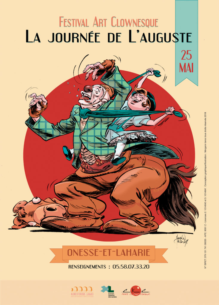 Affiche du festival art clownesque La journée de l'Auguste 2019